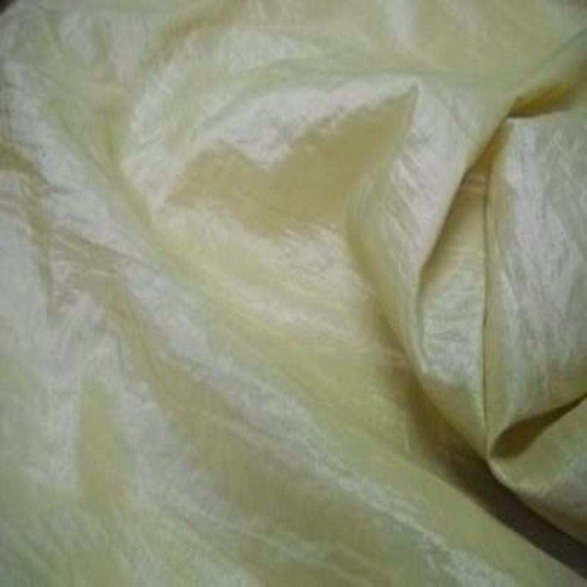 Taffetas souple froisse permanent ton jaune pale6
