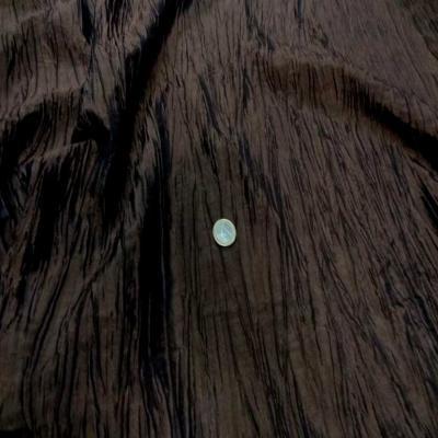 Taffetas souple froisse plisse marron changeant