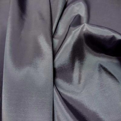 Taffetas souple gris changeant gris noir