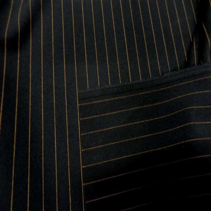 Tergal stretch noir a rayure cuivre0
