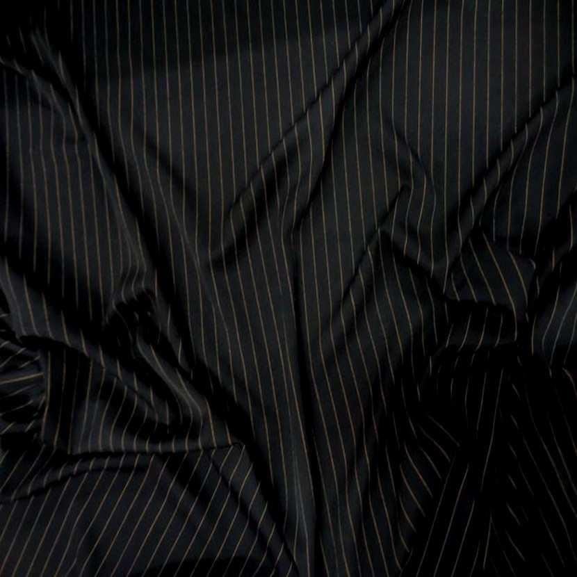 Tergal stretch noir a rayure cuivre2