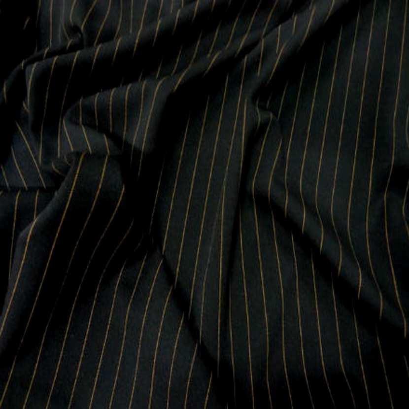 Tergal stretch noir a rayure cuivre5