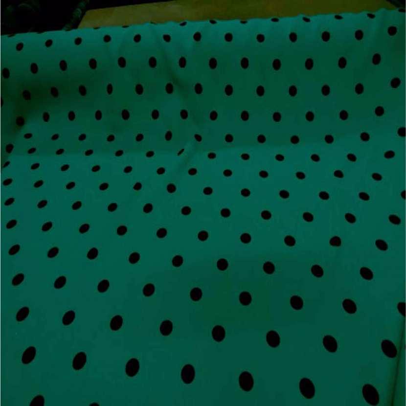 Tergal ton vert a pois noir04