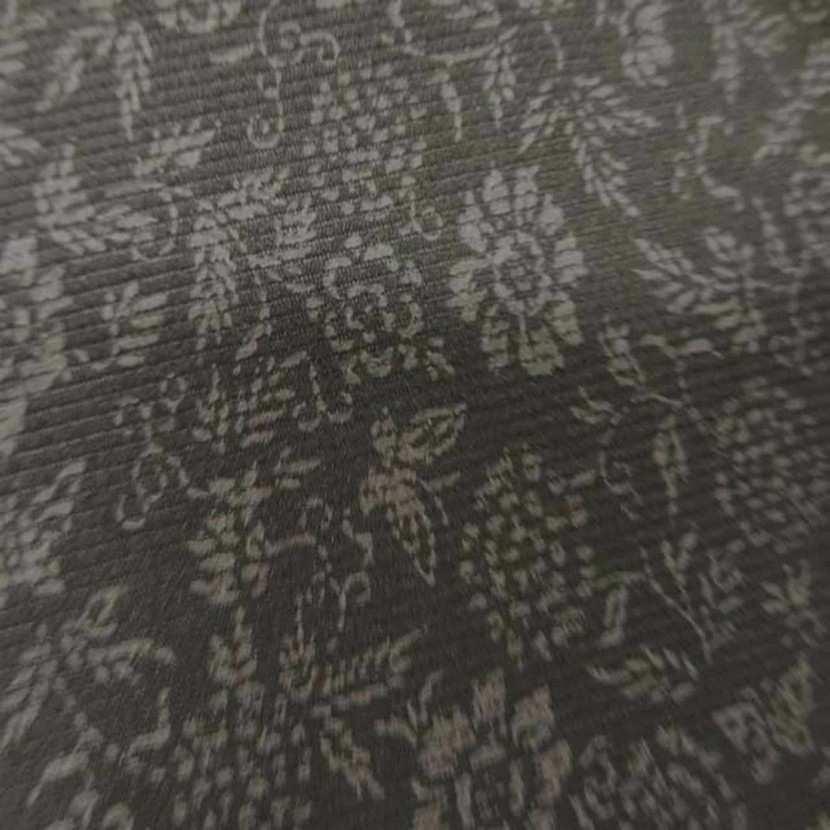 Tissu a fine cotes kaki imprime petite fleurs2