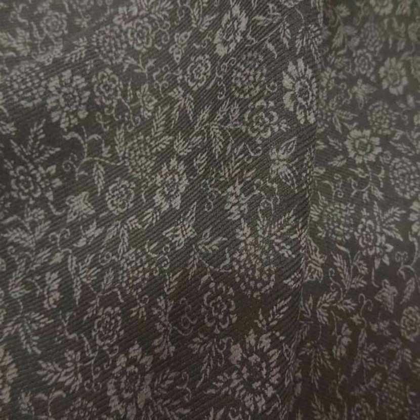 Tissu a fine cotes kaki imprime petite fleurs6