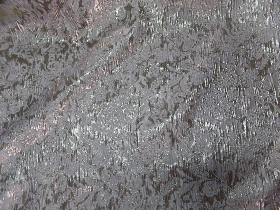 achat tissu oriental blanc cassé façonné motif en relief en lurex doré en ligne