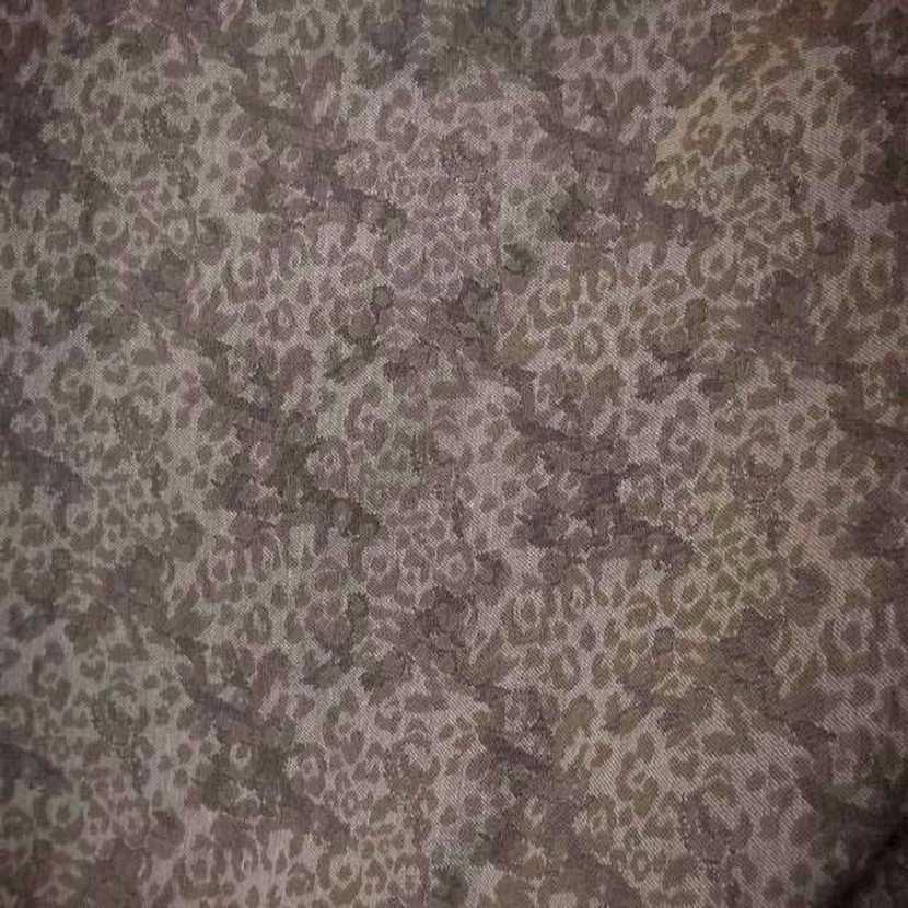 Tissu coton damasse ton beige gris0