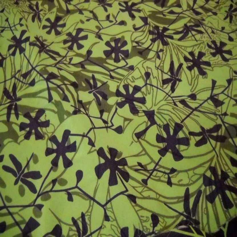 Tissu coton melange ton anis violet9