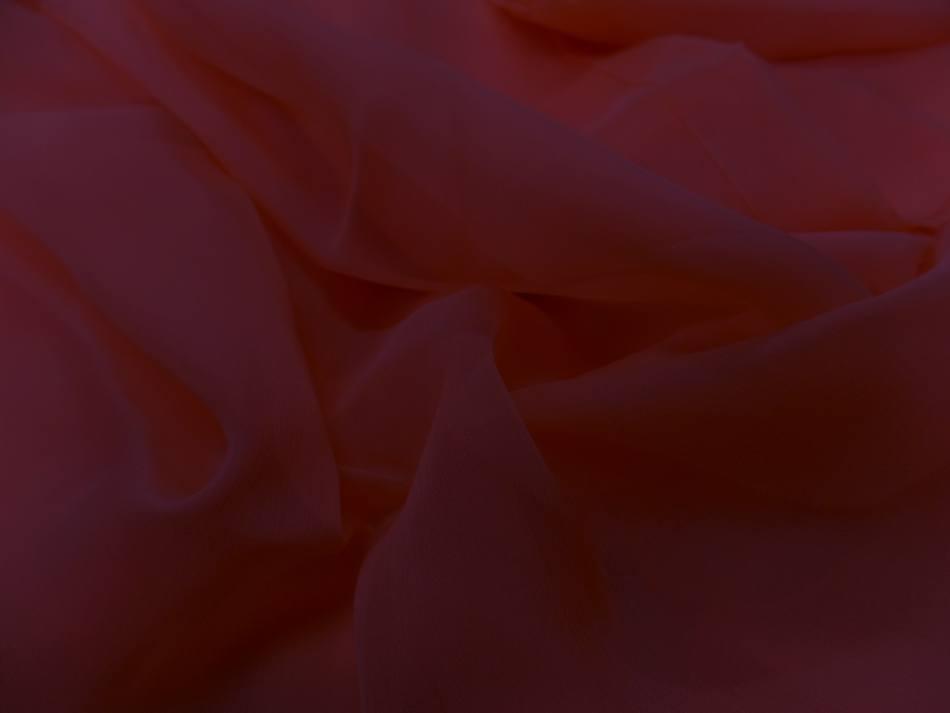Tissu coupon de mousseline de soie fuschia 1