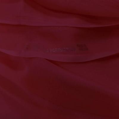 Tissu coupon de mousseline de soie fuschia