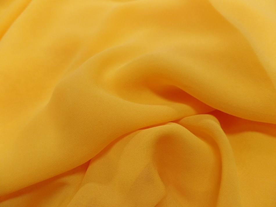 Tissu crepe de soie tres fin ton jaune soleil sur marseille