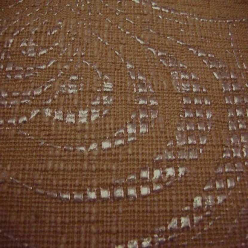 Tissu d ameublement epais ton caramel a motifs ecailles caramel1