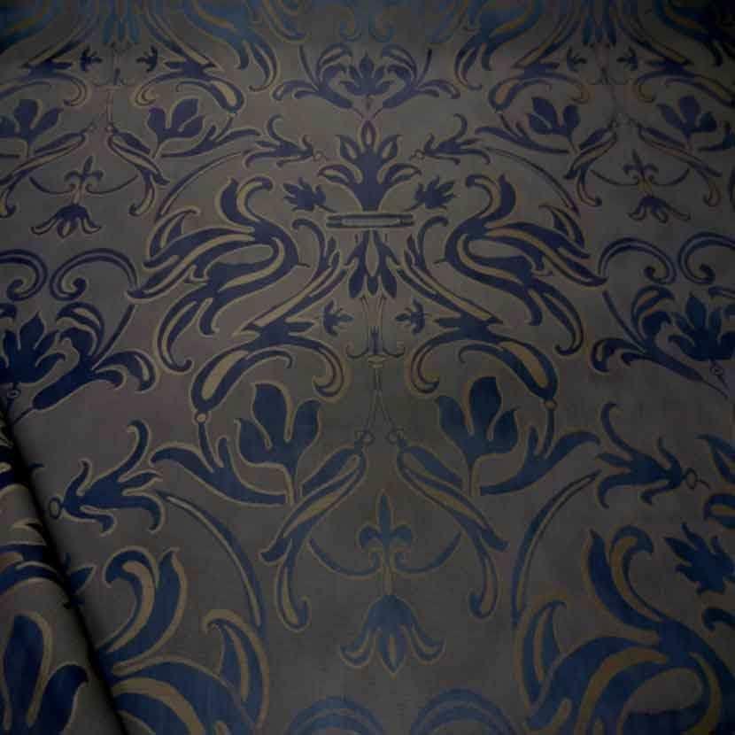 Tissu d ameublement jacquard violet beige taupe