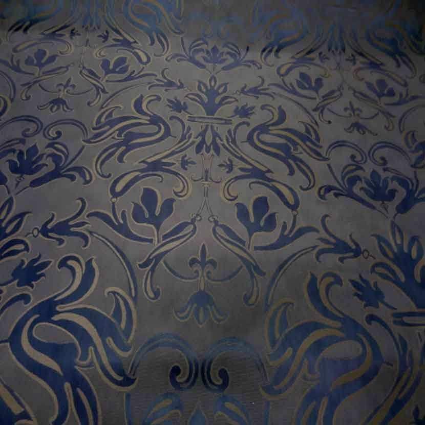 Tissu d ameublement jacquard violet beige taupe0