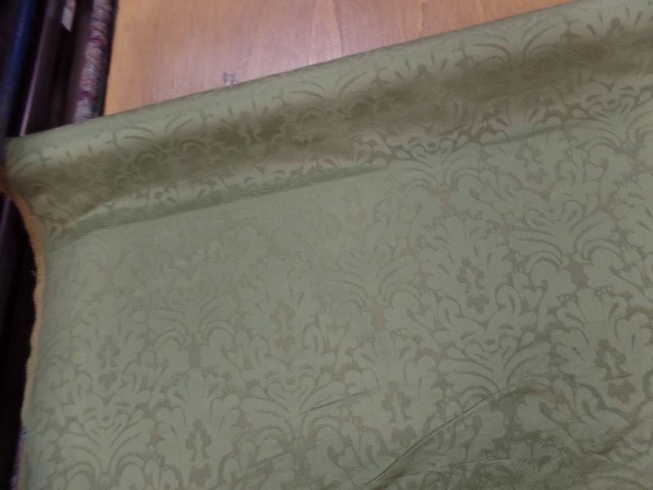 Tissu epais d ameublement ton vert0