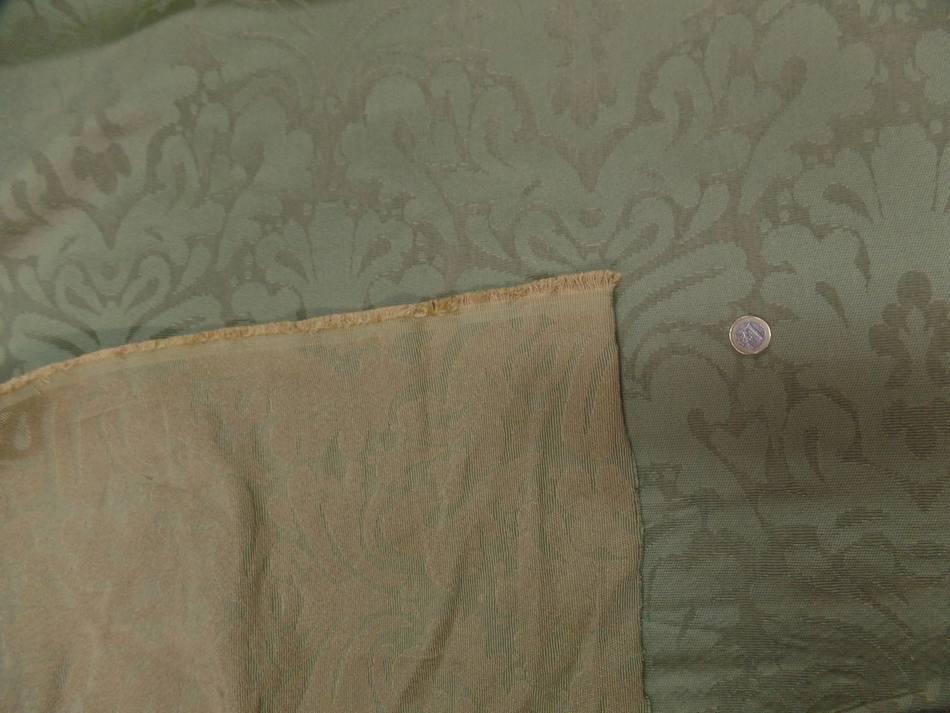 Tissu epais d ameublement ton vert1