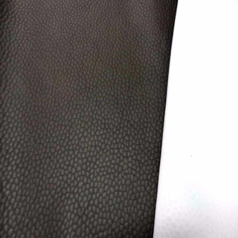 Tissu imitation cuir marron martele 3