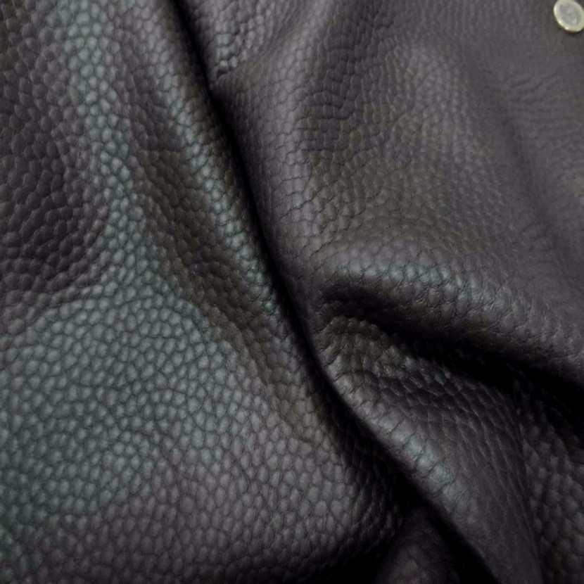 Tissu imitation cuir marron martele