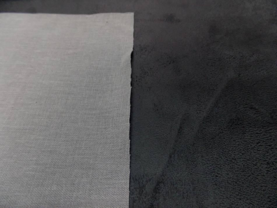 tissu imitation vieux cuir ton gris foncé