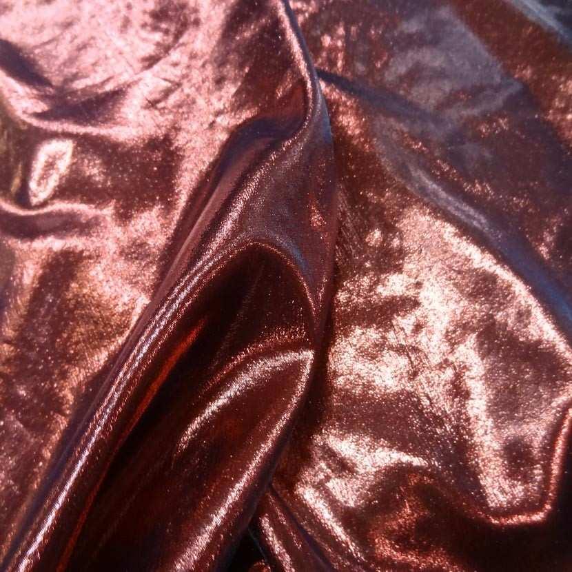 Tissu lame rouge noir3