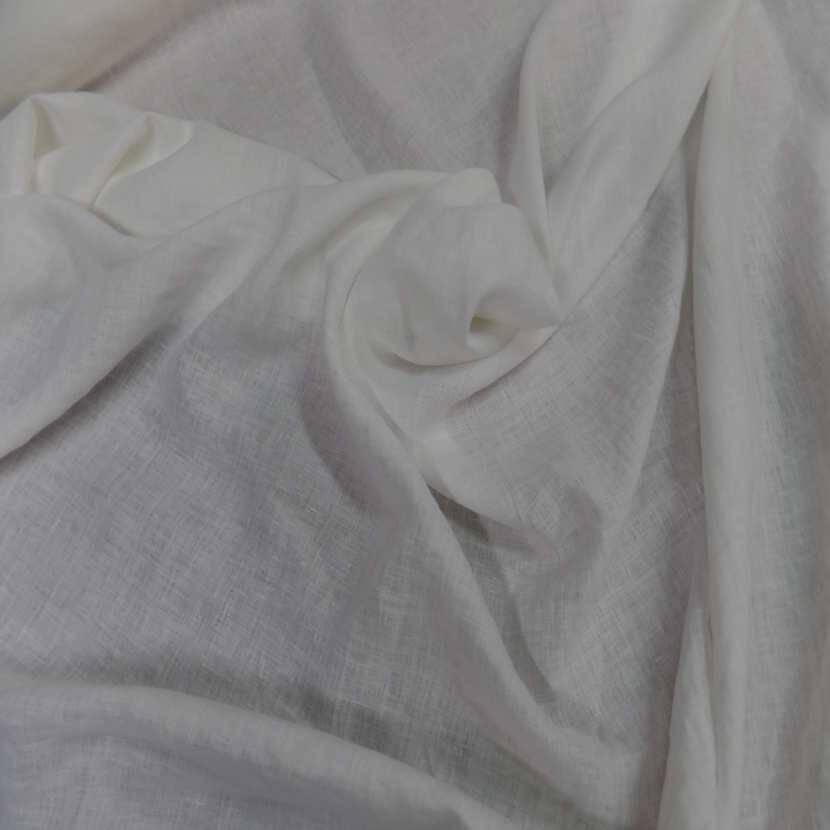 tissu lin 100 blanc