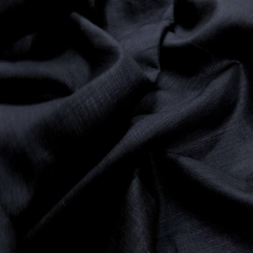 tissu lin 100 noir