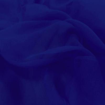 Tissu mousseline de soie bleu roi 1