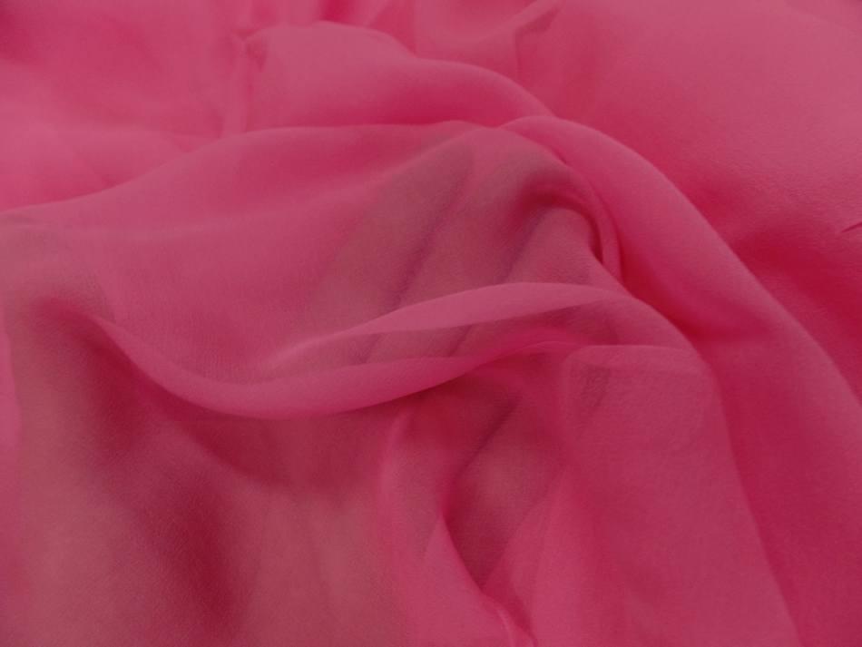 Tissu mousseline de soie rose pas cher