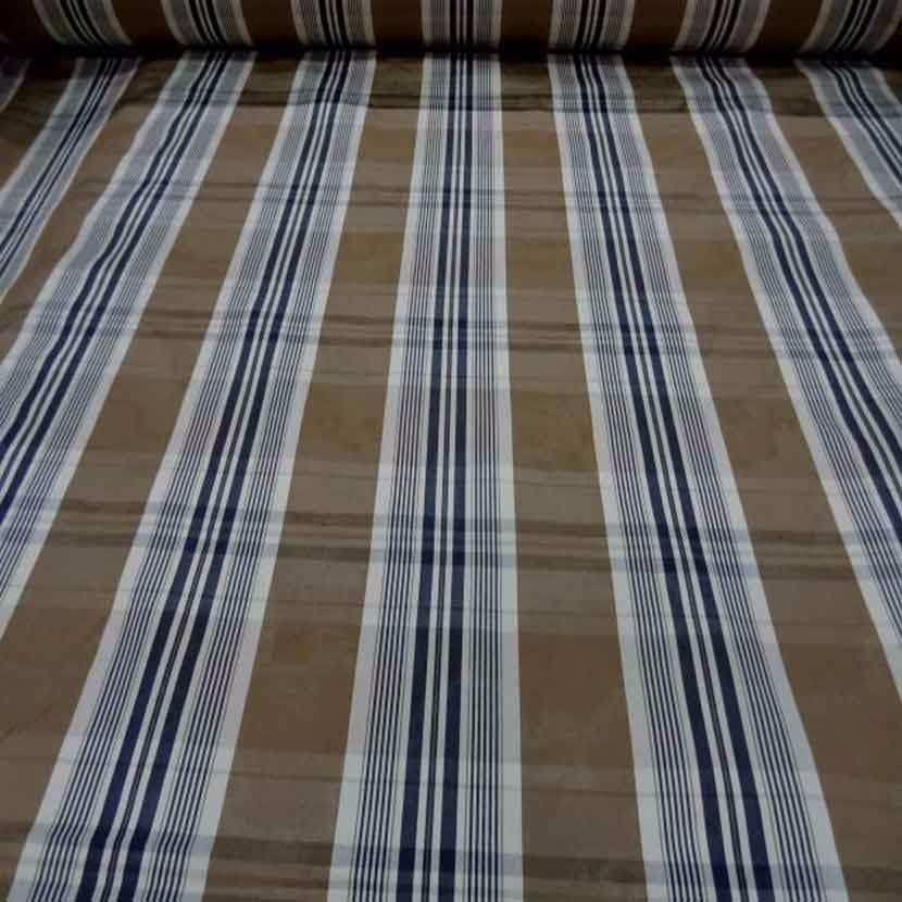 Tissu ottoman beige taupe a rayures blanc bleu marine38