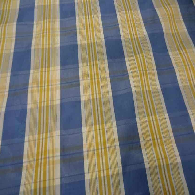 Tissu ottoman bleu a rayures blanc dore4