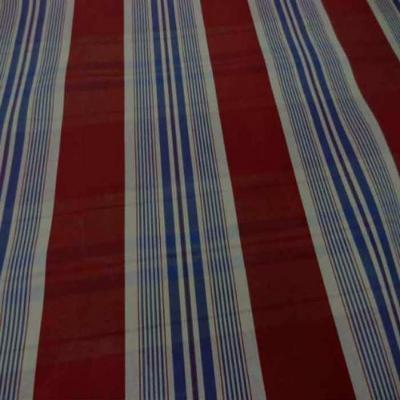 Tissu ottoman bordeaux a rayures blanc bleu08