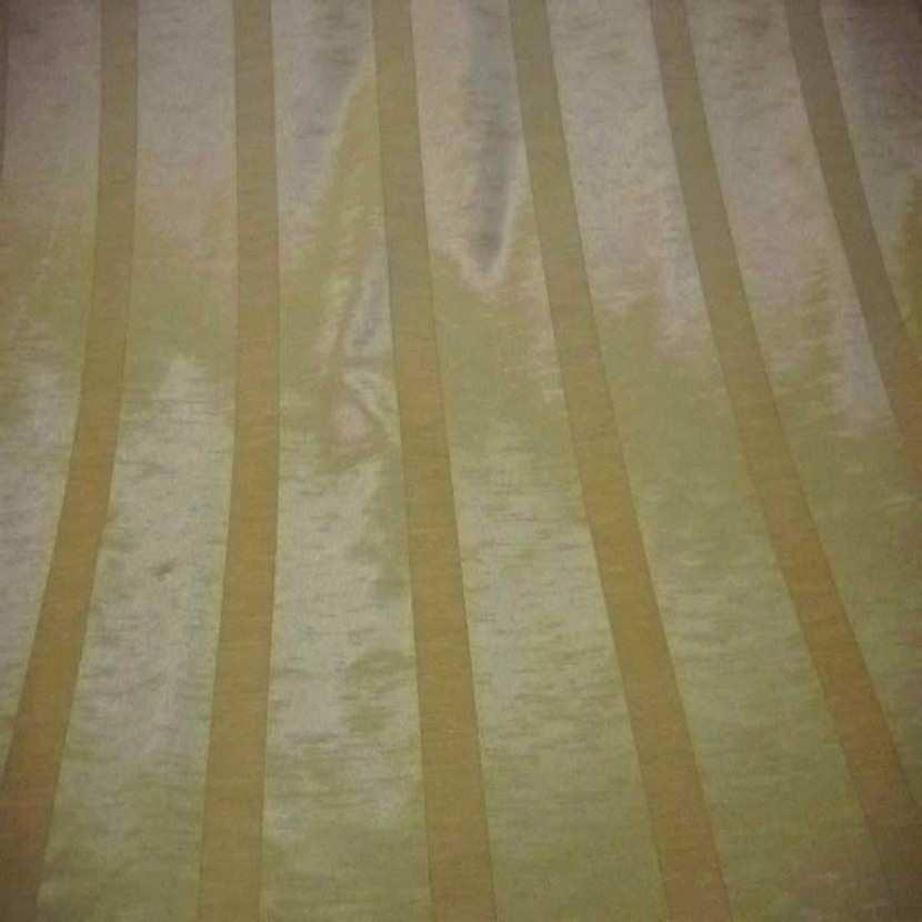 Tissu ottoman jaune dore a bandes