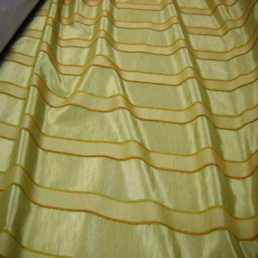Tissu ottoman jaune dore a bandes4