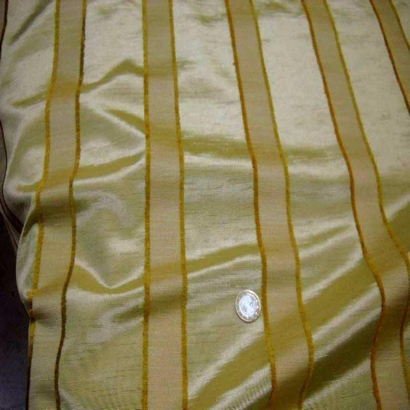 Tissu ottoman jaune dore a bandes5