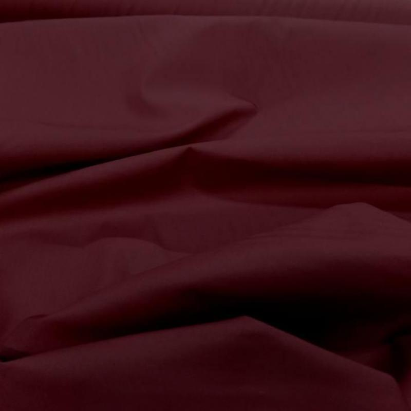 Tissu popeline coton bordeaux