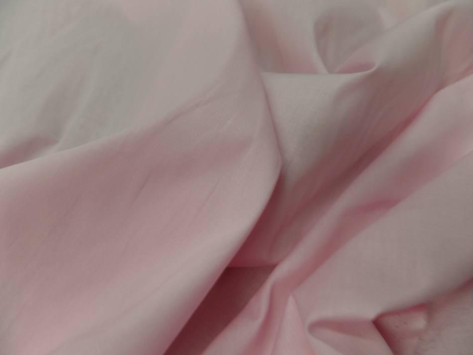 Tissu popeline coton rose clair