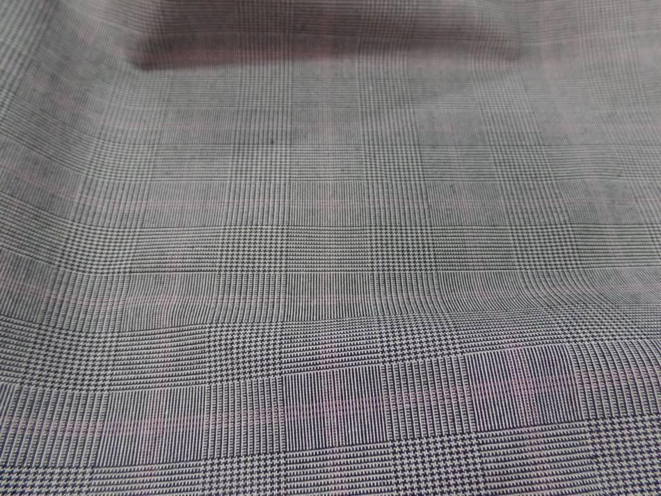 Tissu prince de galles ton gris ,170 gr m²