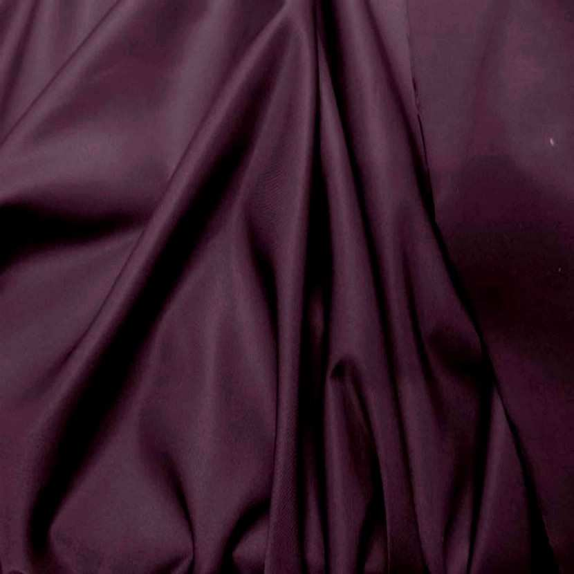 Tissu satin double face prune7