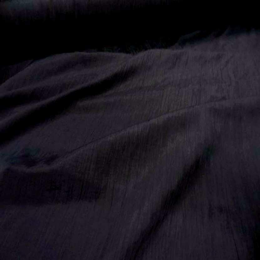 Tissu souple plisse permanent noir