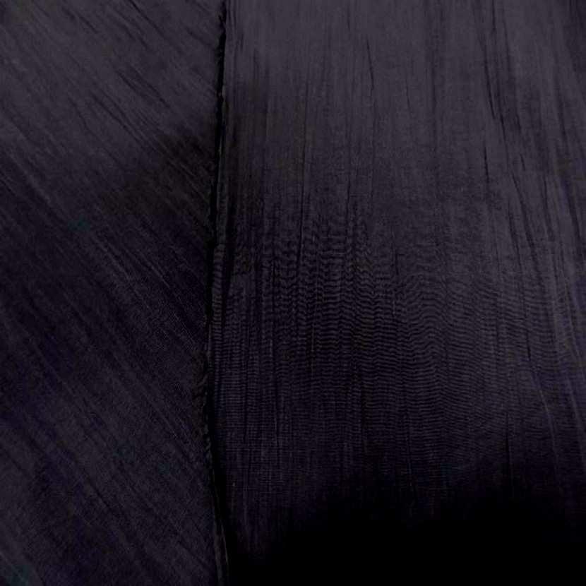 Tissu souple plisse permanent noir7
