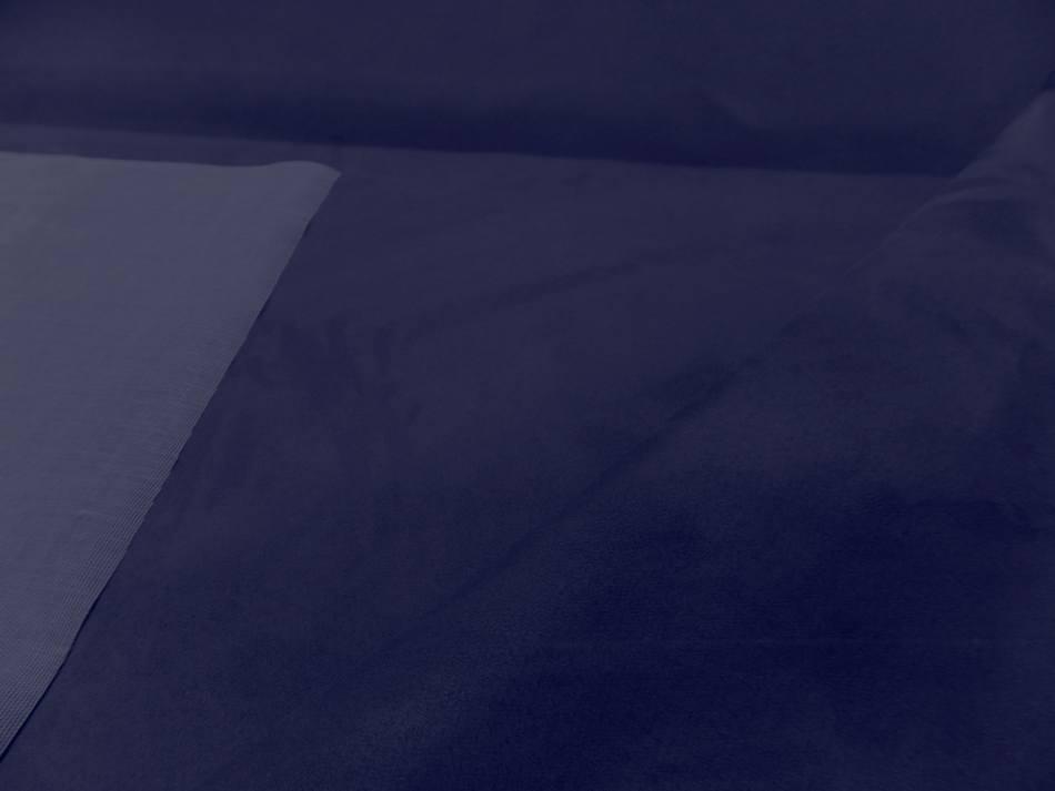 tissu style alcantara imitation daim bleu indigo