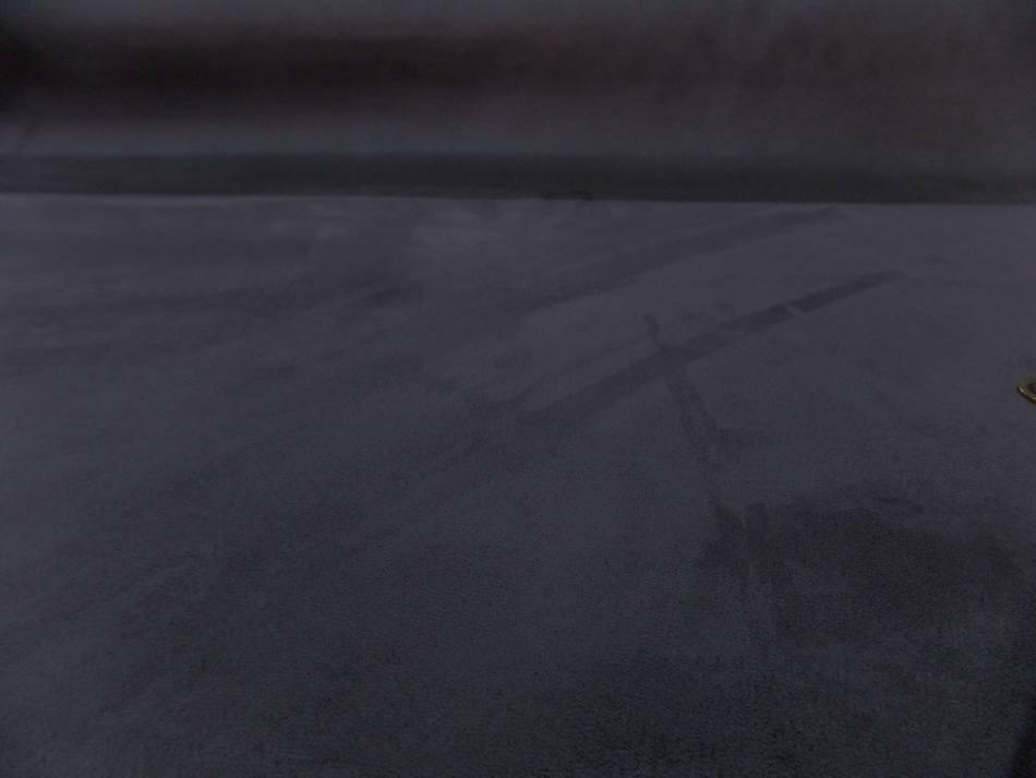 Tissu style alcantara imitation daim gris anthracite