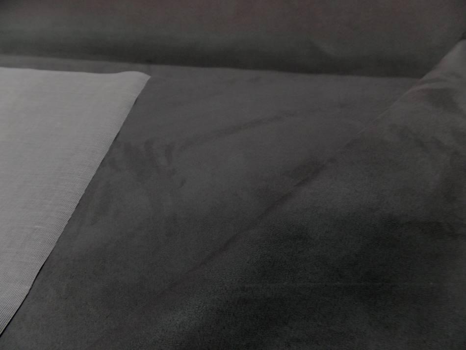 tissu d'ameublement tissu style alcantara (imitation daim gris)