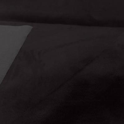 tissu style alcantara imitation daim marron foncé