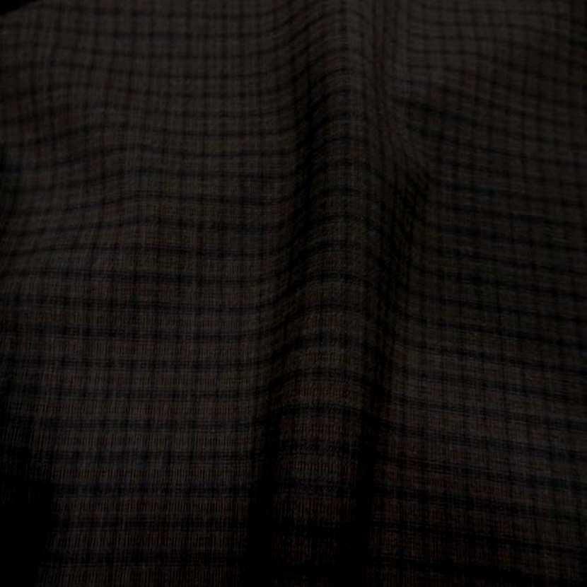 Tissu tergal bi stretch marron a carreaux5
