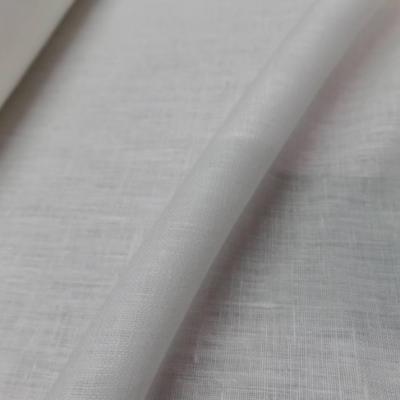 Tissu toile de lin 100 ton blanc casse
