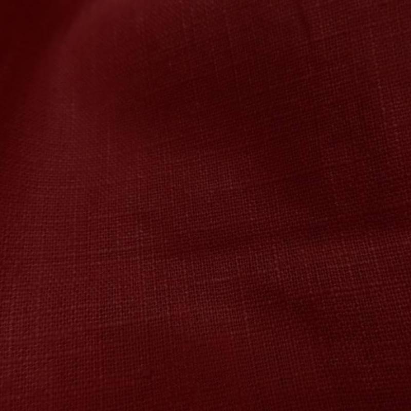 tissu très beau lin 100 rouge
