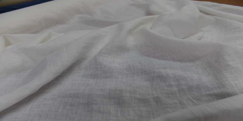 Tissu tres beau lin blanc 1