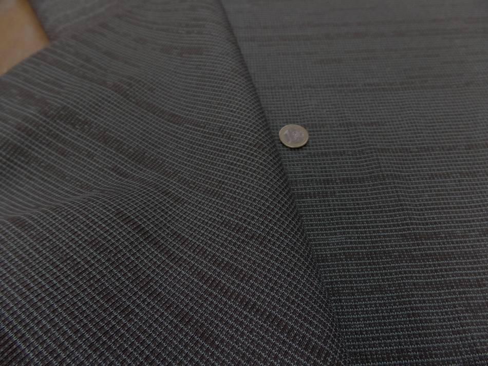 Tissu bord cote ton taupe rayé