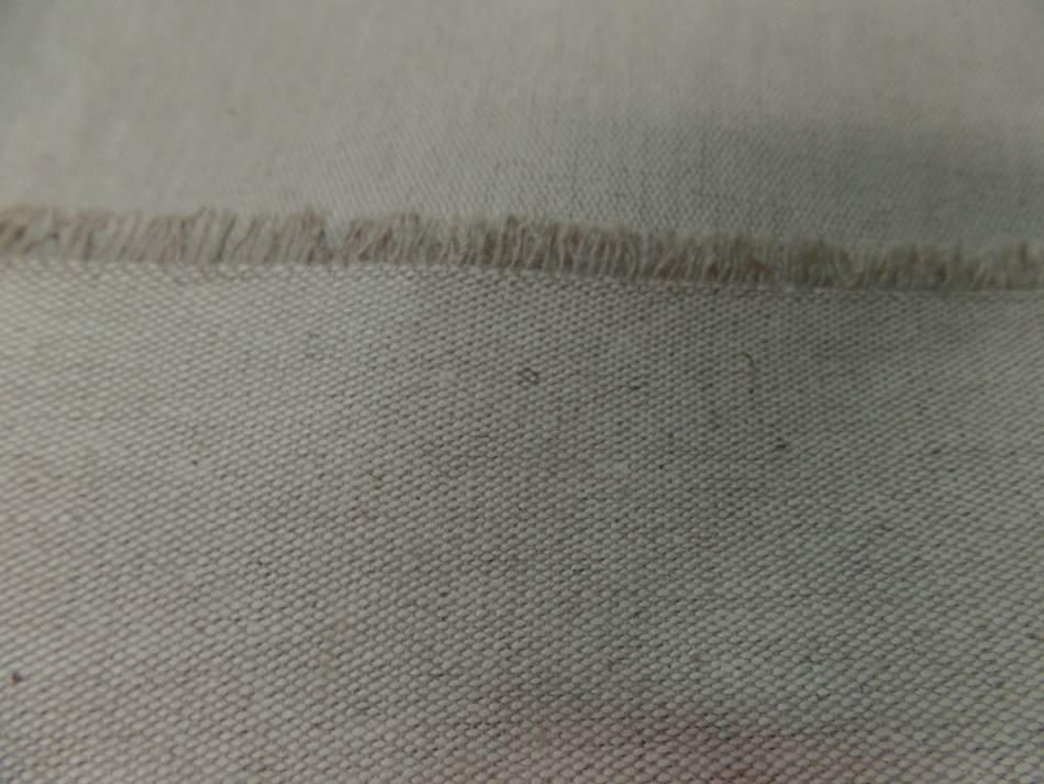 vente de tissu Toile de lin bizonne supérieure calandrée a chaud 300 gr m² en 2.80m beige naturel